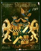 Riddarhusets vapensköld för Friherre Gustaf Funck 1723