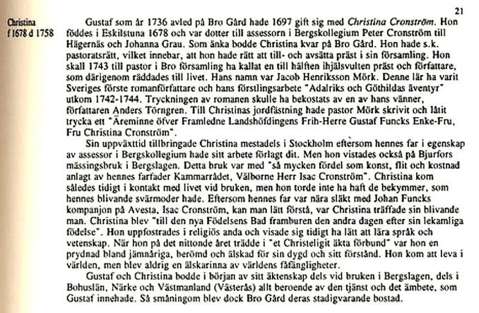 """Sida ur """"Ätteboken"""" av Erik Funck med hjälp av sonen Claes Funck & Carina Olsson i Upplands Väsby färdig 1993. Claes Funck copyright"""
