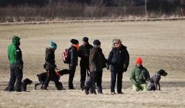 Delar av gänget på de stormiga Skånska fälten
