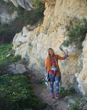 Britt-Marie Lotse på bergsvandring