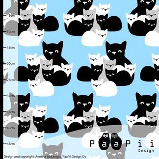 Paapii katter ljusblå - Papp katter vävt