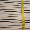 Strömming design Stripes aprikos - Jersey ränder svart och aprikos