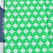 Stuv retro bomull grön med vit klöver