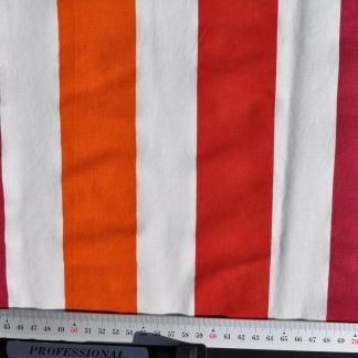 Stuvbit vävd röd och orange rand -