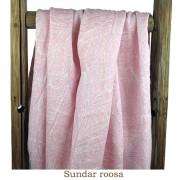Lin rosa med mönstertryck