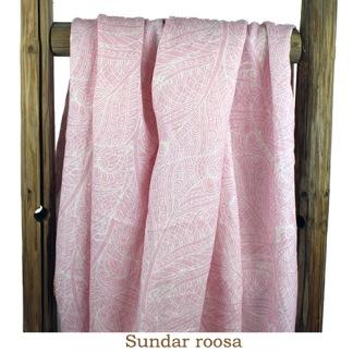 Lin rosa med mönstertryck - lin rosa med mönster