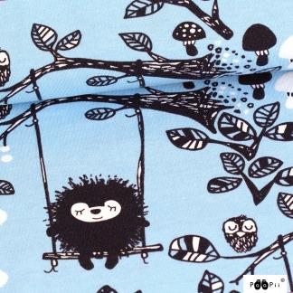 Paapii Siiri in the swing, blue - Siiri gungar blå