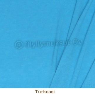 Ribbstickad merinoull turkos -