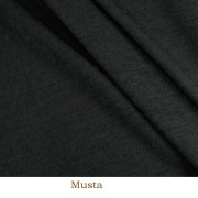 Ribbstickad merinoull, svart