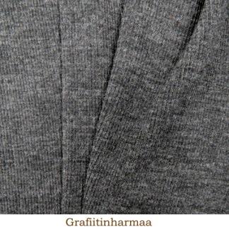 Ribbstickad merinoull, grå - Ribbstickad merinoull, grå