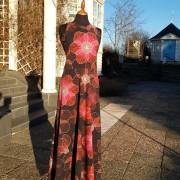 Långklänning röd Silvana