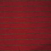 Ullinterlock röd med smal grå rand