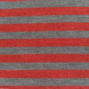 Ullinterlock röd och grå randig