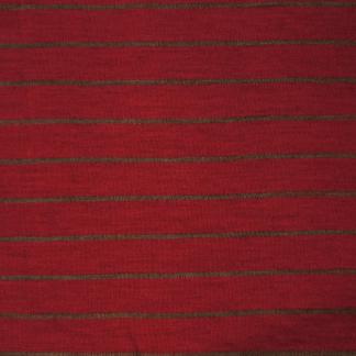 Ullinterlock röd med smal grå rand - Ullinterlock röd med smal grå rand