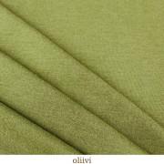 Merinoull interlock, tunn, olivgrön