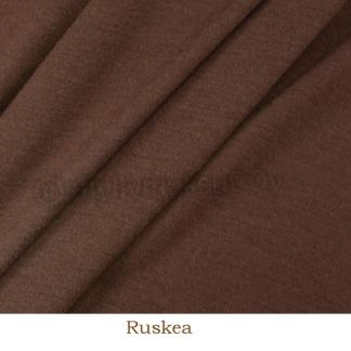 Merinoull brun interlock - Merinoull interlock brun