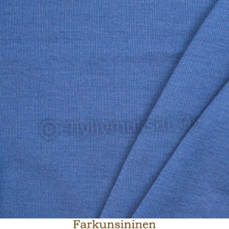Merinoull blå interlock - Merinoull blå interlock