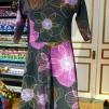 Klänning med lätt klockad kjol - Klänning purple Silvana S