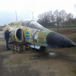 Den ville jag ha till klubben, Den kom ju från F16 som övningsobjekt att få ut piloten, Ronny
