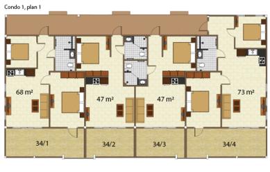 Condo 1 våning 1