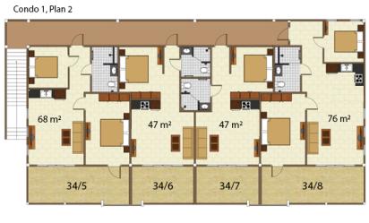 Condo 1 våning 2