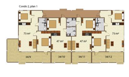 Condo 2 våning 1
