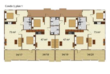 Condo 3 våning 1