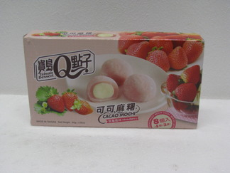 Taiwan Dessert Q Cacao Mochi Jordgubb -