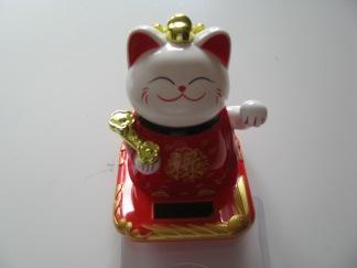 Vinkande Katten Vit -