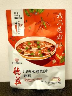 Dezhuang Szechuan Chili Kryddblandning för Kokta Köttskivor