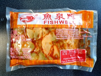 Fish Well Brand Sichuan Inlagd Senapstam i Chiliolja