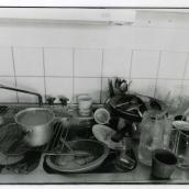 Diskbänken i köket hos  och Mait Fisksätra