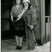Parkarbetare Sylvia R och städerska på Nakahem