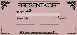 PRESENTKORT - 650-1300SEK - SUMMA 650SEK