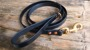 Dog leash black - 175 cm