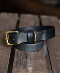 Dog collar black - M (36-42cm)