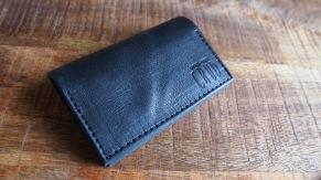 Nordre Card Case Black Waxed - Nordre Card Case Black