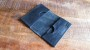 Nordre Card Case Black Waxed