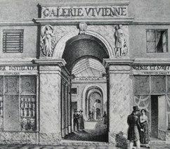 The Galerie Vivienne . Paris 1820.