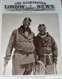Edmund Hillary and  Tenzing Norgay on Mount Everest 1953.