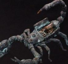 Automaton skorpion i brons av assassinskt ursprung. 1800-tal. Ur Dr Cagliostros samling.
