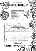 Åbergs Trädgård & Café plantlistan