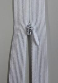 Osynligt klänningslås vit