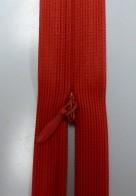 Osynligt klänningslås röd