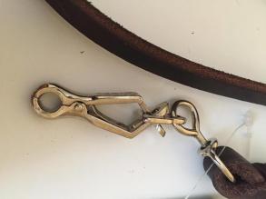 Läderkoppel sax-hake