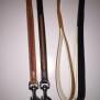 Eckers läderkoppel - 18mm Ljusbrun m röd fläta