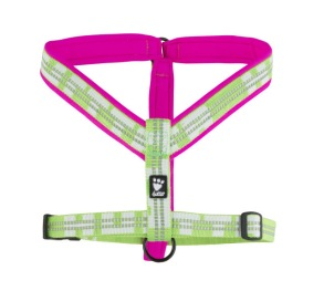 Hurtta Y-sele Limited Edition - Pink/Kiwi 90cm