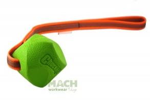 Match Boll gummerat handtag - Grön boll , brunt handtag
