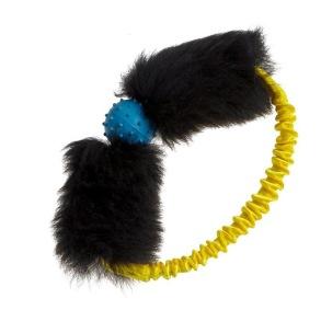 Tug-e-Nuff Boll i ring - Gul expander, svart skinn, gul boll