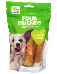 Four Friends Twisted Stick Chicken, 12,5cm, 110g